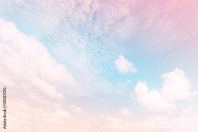 Panel Szklany Sky with a pastel colored gradient