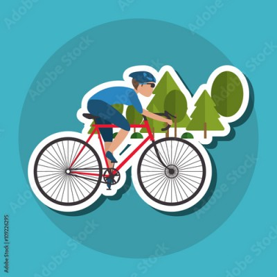 Obraz Flat illustration of bike lifesyle design, edita