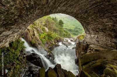 Obraz Waterfall in Snowdonia National Park,Wales,United Kingdom