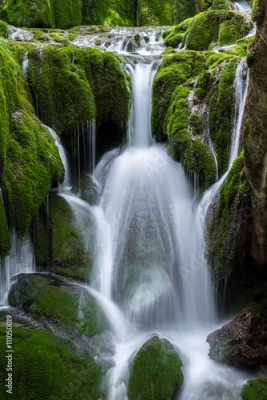 Obraz Waterfalls at Entzia mountain range (Spain)