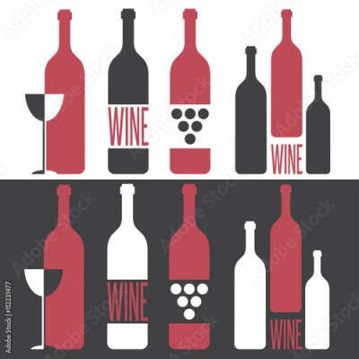 Obraz set of vector illustrations on wine theme