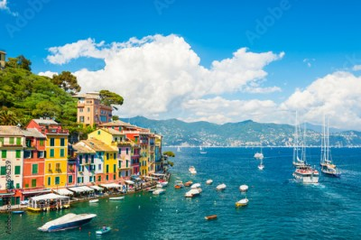 Fototapeta Sea coast in Portofino, Italy