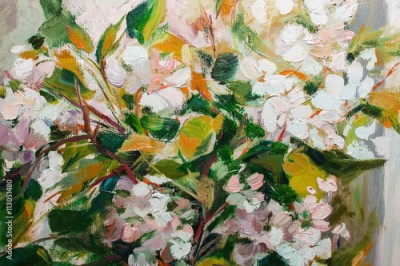 Obraz Oil Painting, Impressionism style, texture painting, flower stil