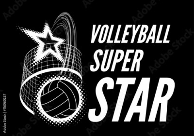 Obraz na płótnie Volleyball super star design