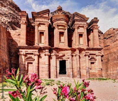 Obraz The Monastery is the largest tomb facade in Petra