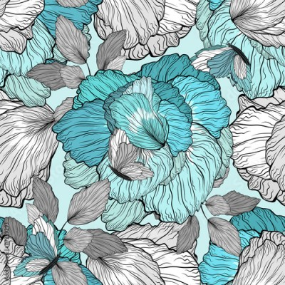 Fototapeta Floral Pattern Seamless Background