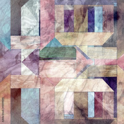 Obraz na płótnie Abstract watercolor geometric background