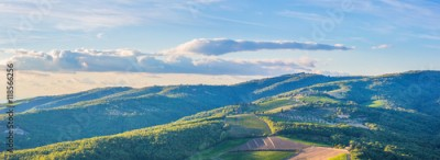 Fototapeta Panoramic landscape of surroundings of the village of Radda in Chianti, Tuscany, Italy.