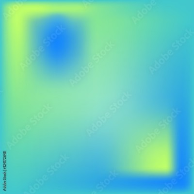 Obraz Abstract vector background with mesh effect. Blue, yellow and turquoise colors.