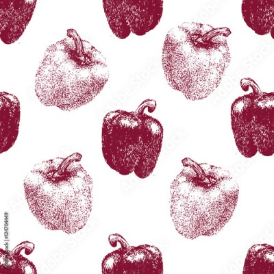 Fototapeta Seamless pattern with Bell Peppers