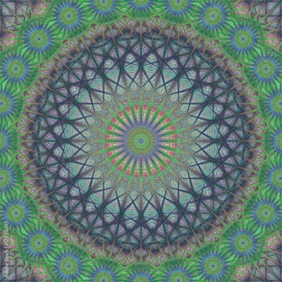 Obraz na płótnie Abstract fractal structure ornament background