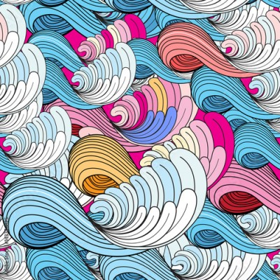 Fototapeta Sea wave pattern