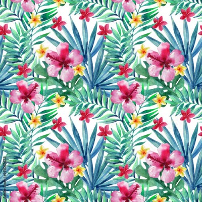 Plakat Abstract tropical summer seamless pattern.