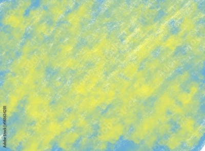 Fototapeta soft-color vintage pastel abstract watercolor grunge background with colored (shades of blue and yellow color), illustration