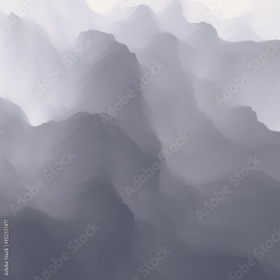 Fototapeta Grey gradient abstract background. Vector Illustration for design.