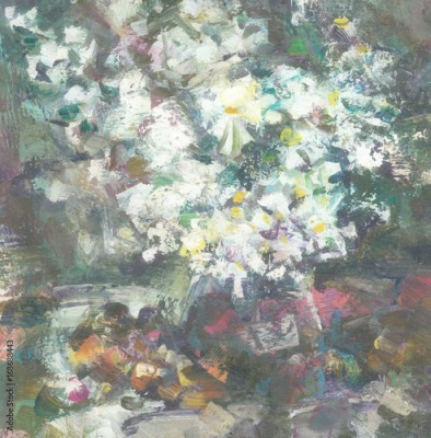 Obraz Still-life with white flowers