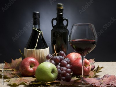 Obraz Wine and Grapes