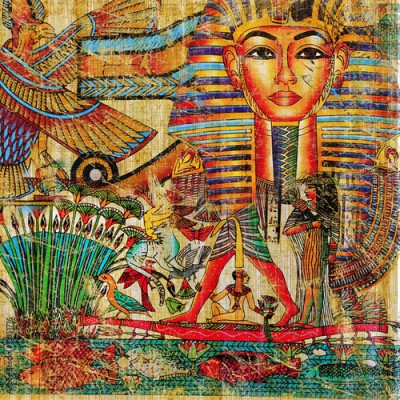 Obraz vintage egyptian abstraction