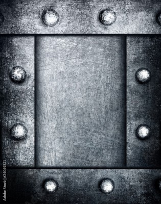 Fototapeta grunge metal frame background