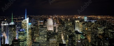 Fototapeta New York by night from Empire State Building