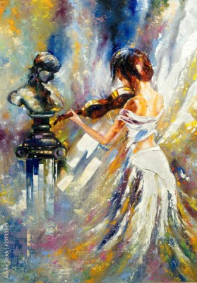 Obraz The girl playing a violin