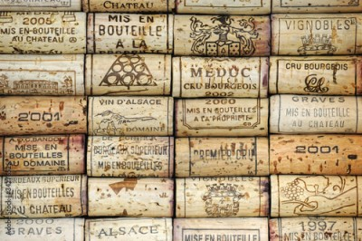 Obraz Background of wine corks