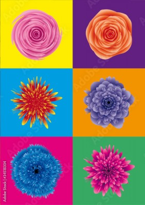 Obraz flower power / blumen pop art