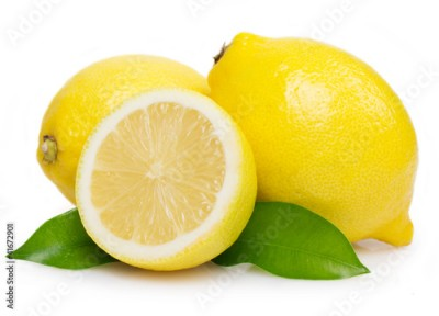 Obraz Fresh lemon with leaves