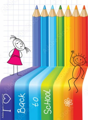 Fototapeta Back to School. Concept background with children.