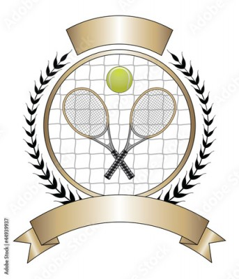 Obraz Tennis Design Template Laurel