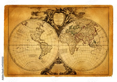 Fototapeta map of world 1752