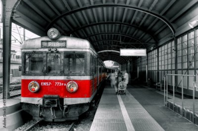 Plakat red train