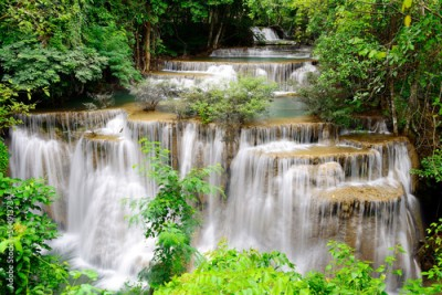 Obraz Waterfall in tropical forest in Thailand