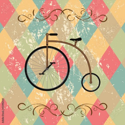 Obraz retro bicycle abstract background