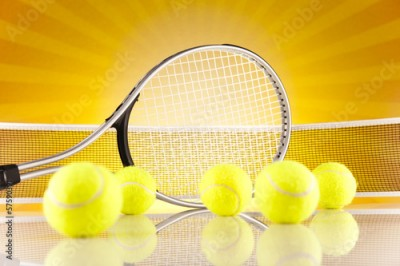 Obraz Tennis racket and balls