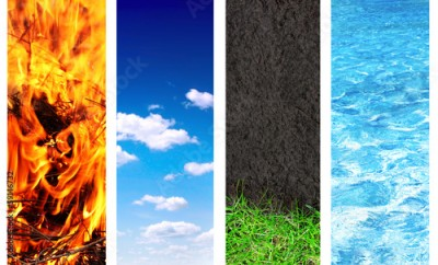 Plakat Set of banner with nature elements
