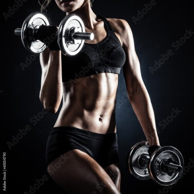 Obraz Fitness with dumbbells