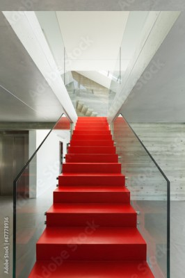 Fototapeta red staircase