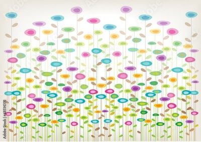 Obraz color vector flowers background