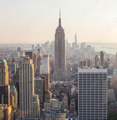 Fototapeta Aerial View of Manhattan, New York