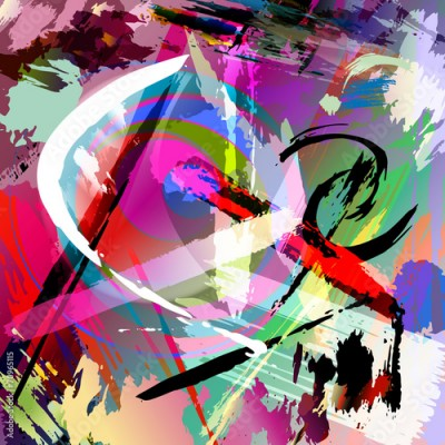 Obraz na Plexi abstract paint stroke composition, vector illustration