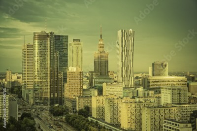Obraz Warsaw financial center in late afternoon, Poland