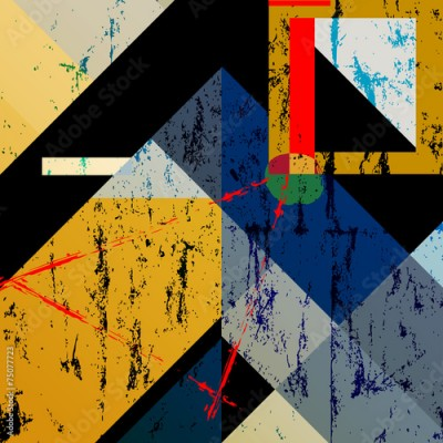 Obraz na płótnie abstract colorful geometric background, with squares, triangle a