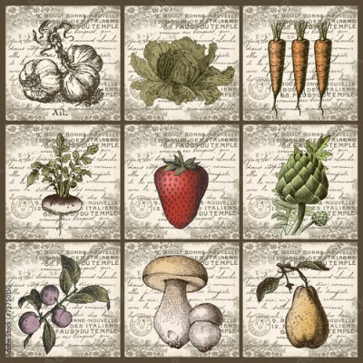 Fototapeta Fruits and vegetables