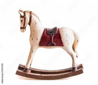 Obraz vintage rocking horse isolated on white