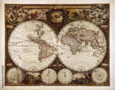 Fototapeta Vintage World map