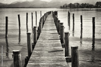 Obraz na Plexi old wooden jetty