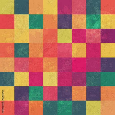 Fototapeta Retro squary colorful vintage vector background