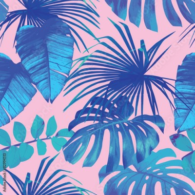 Obraz tropical leaves seamless background