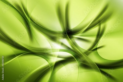Obraz na Szkle Green Abstract Design